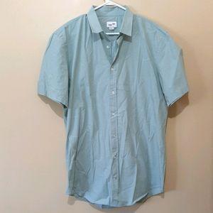 Frank + Oak Short Sleeve Cotton Shirt Tall